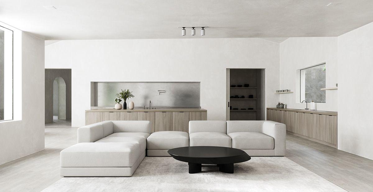 Minimalist Monastery On Behance Minimalist Living Room Design Best Home Interior Design House Interior