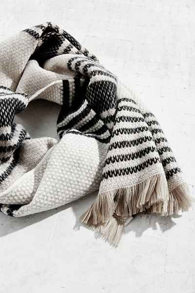Mixed Fair Isle Blanket Scarf - Urban Outfitters | Textiles ...