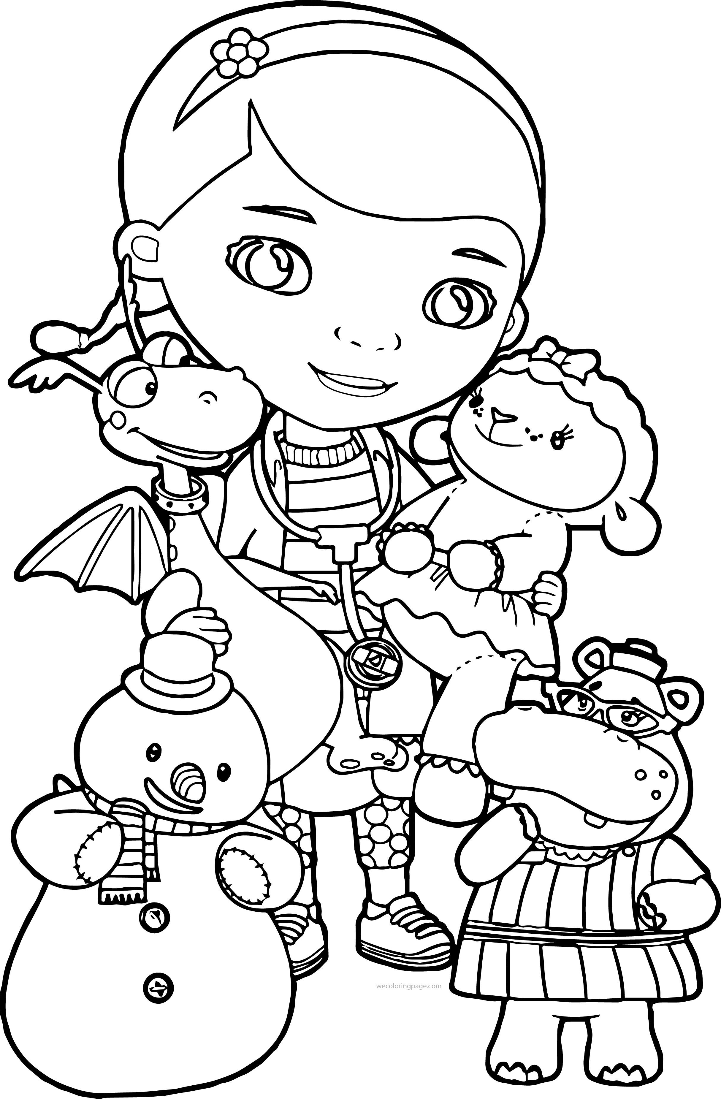 Doc Mcstuffins Coloring Pages New Free Board Pinterest Toy