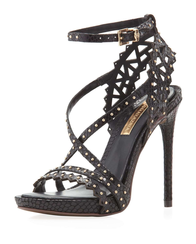 d27f77fe48b Bcbgmaxazria Esra Studded Sandal Black in Black (6)