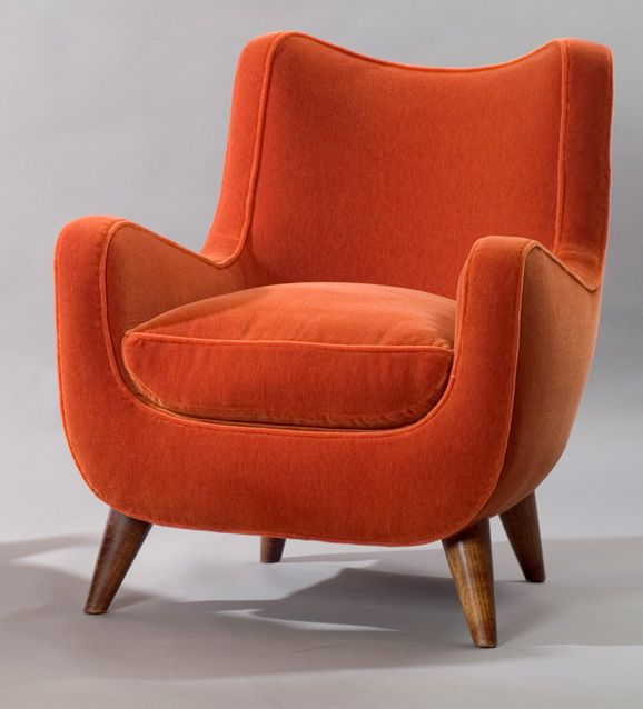This Burnt Orange Color Is Amazing. Just Needs Some Patternful Pillows And A