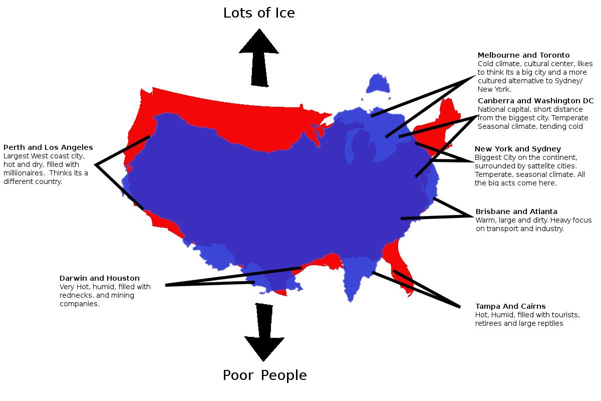 Australia vs US Maps Pinterest Australia