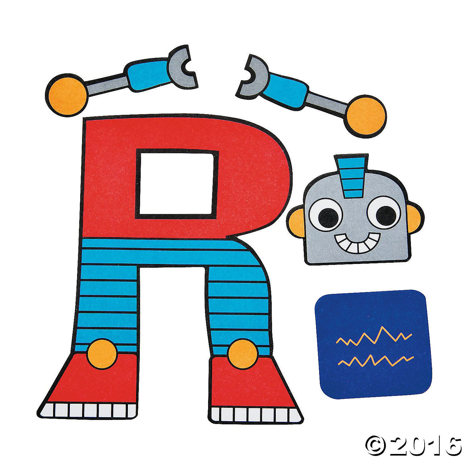 R Is For Robots Letter R Craft Kit 48 A01
