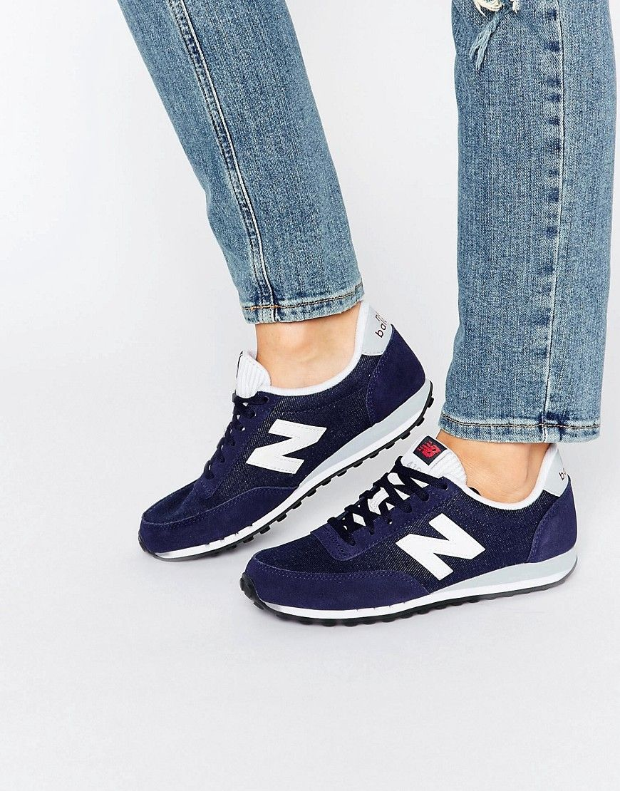 Buy it now. New Balance 410 Navy And White Trainers - Navy ...