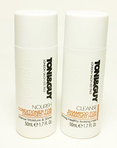Toni And Guy Travel Set Cleanse Shampoo And Nourish Conditioner For Damaged Hair By Toni And Guy Hair Care Tru Shampoo Shampoo For Damaged Hair Damaged Hair