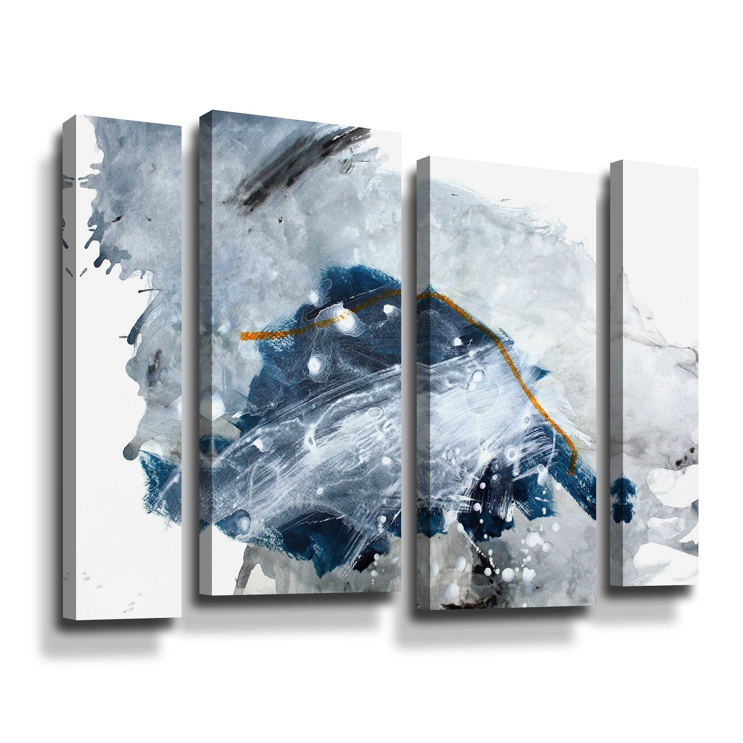 Cartography 4 Piece Gallery Wrapped Canvas Staggered Set Blue Artwall In 2020 Gallery Wrap Canvas Canvas Set Wall Art Prints