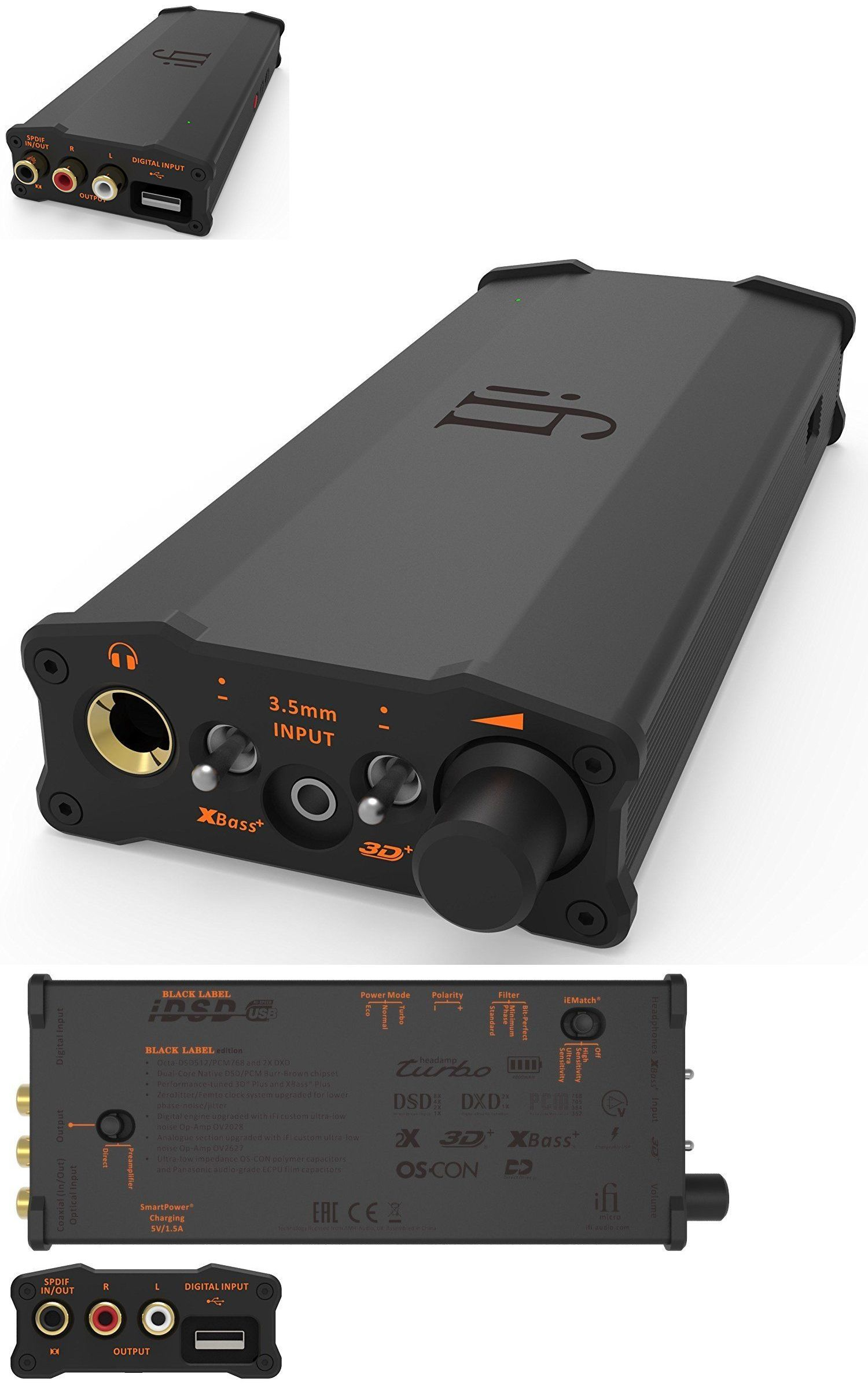 Stereo Component Combos New Ifi Micro Idsd Black Label Edition Usb Power Amplifier Compatible With Tv Audio Dac And Headphone