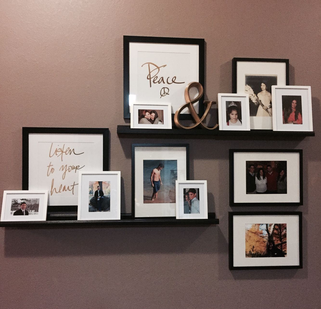 Photo wall under construction