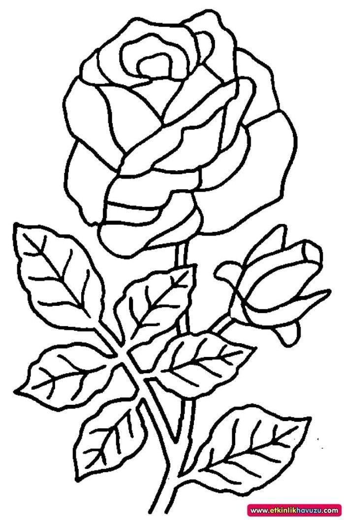 Okul Oncesinde Boyama Calismasi 1157 Jpeg Okul Oncesi Etkinligi Yukleyen Ogretmenimiz Rose Coloring Pages Flower Coloring Pages Flower Drawing