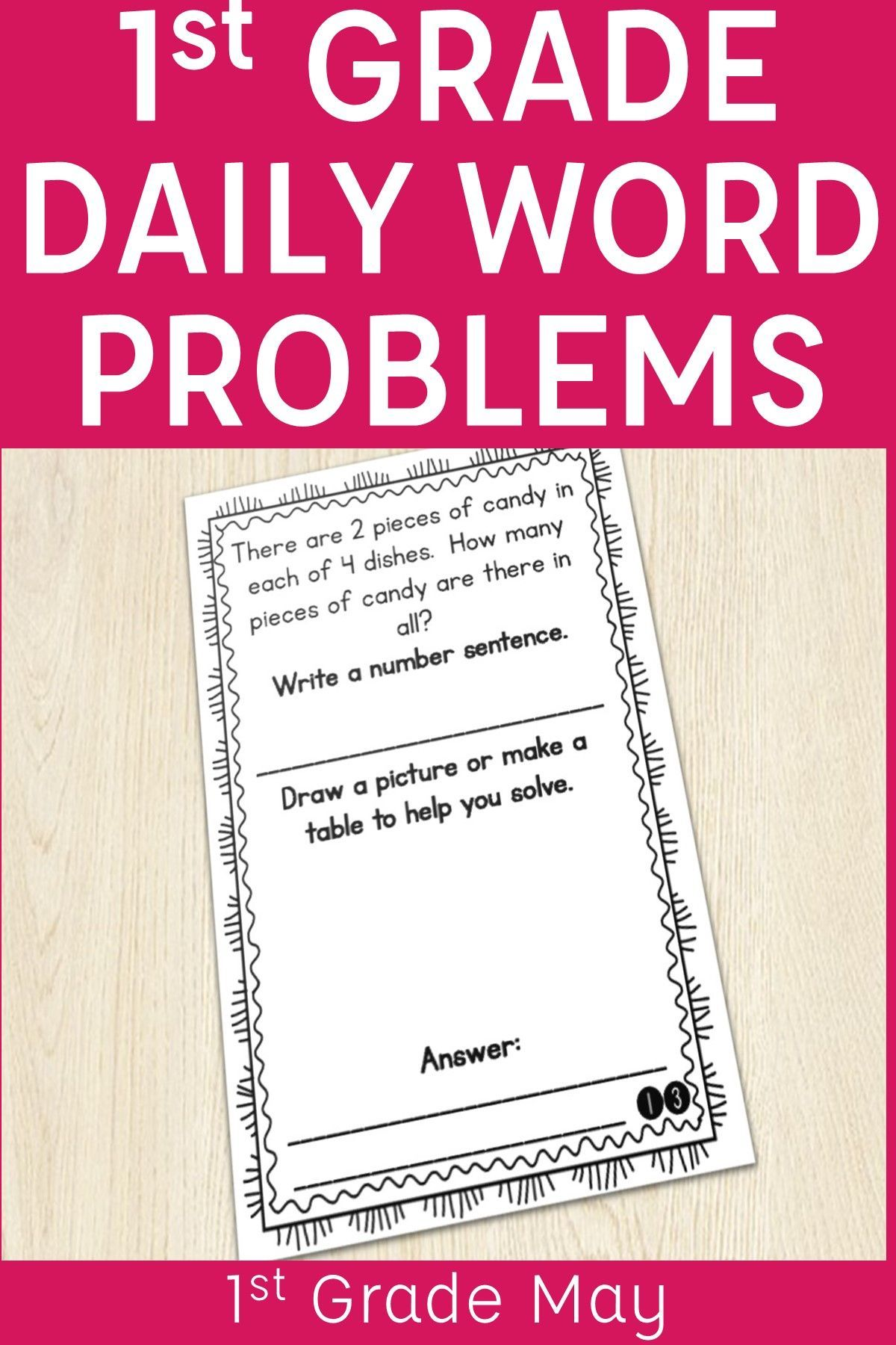 Give 1st Graders Practice Applying Addition And Subtraction In Real World Scenarios With Word Problems Of The Word Problems Story Problems Daily Word Problems