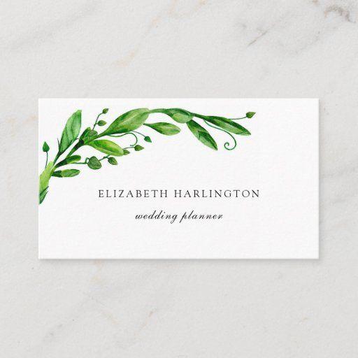Green Botanical Card Greenery Floral Garden Business Card Zazzle Com Floral Business Cards Floral Design Business Interior Designer Business Card
