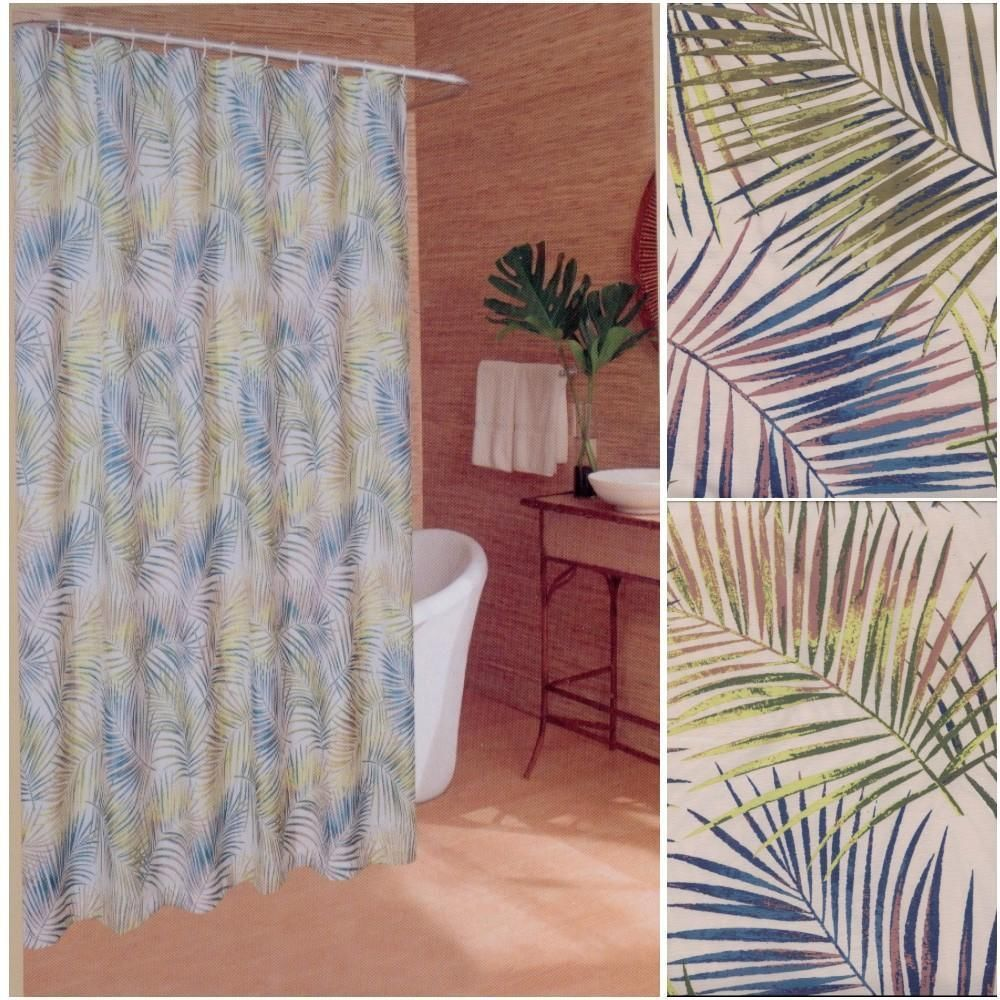 Caribbean Joe Beach House Palm Leaves Tropical Island Fabric
