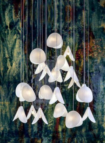 Shell Pendant Lighting Alt idea for bath pendant that is more organic. (This is pricey but an idea to work from)