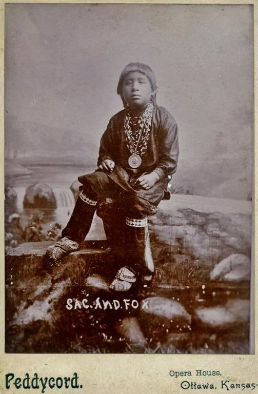 Sac & Fox boy - 1879