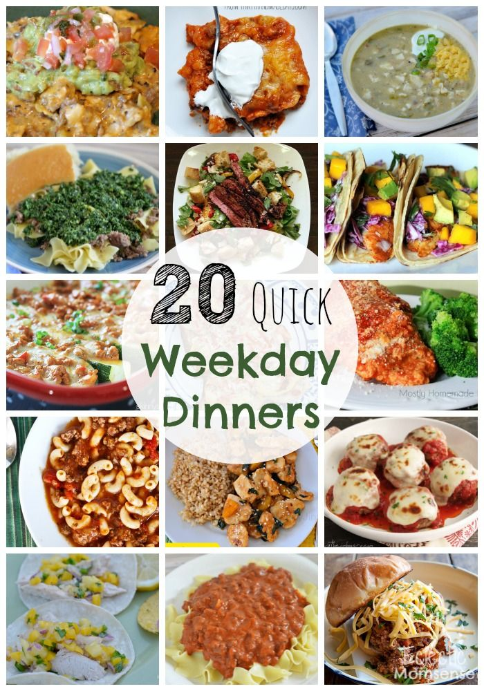 20 quick family weekday meals weekday meals meals and a Easy dinner recipes for family of 6