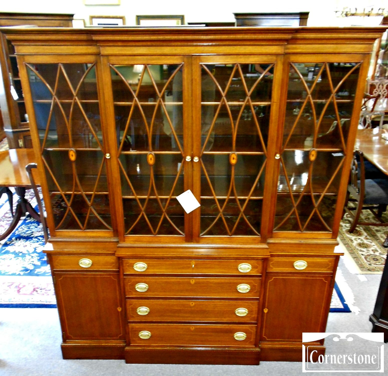 Federal Style Furniture | 5370 570 Potthast Federal Style Inlaid Mahogany  Breakfront