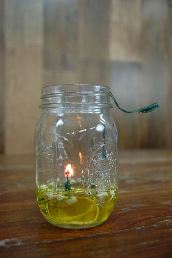 How to Make a Mason Jar Oil Lamp | Oil lamps, Step guide and Jar