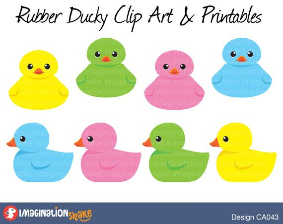 rubber duckies colorful baby clip