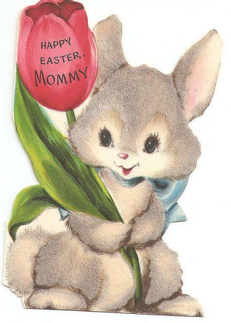 vintage easter cards | Vintage Bunny Easter Card