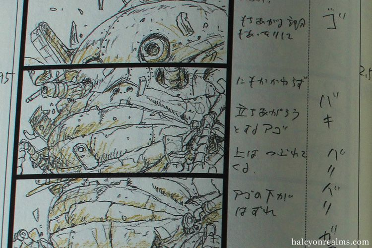 HowlS Moving Castle Storyboard Book Review  JapaneseAnime Art