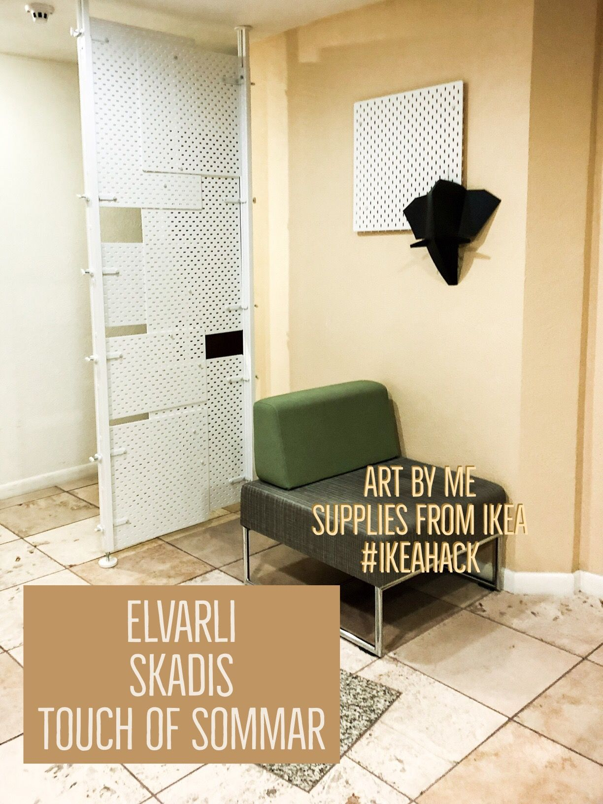 Ikeahack room divider break up space screen ikea for Elvarli ikea hack