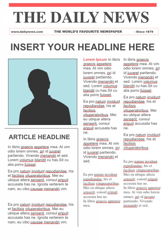 Editable Newspaper Template Google Docs Free Download Blank Sample Top Letter Templates Newspaper Template Newspaper Template Word Blank Newspaper