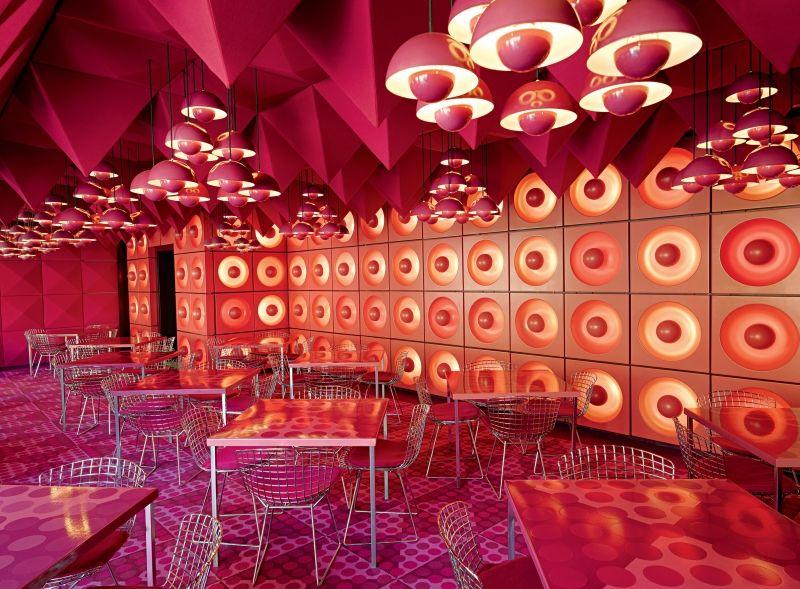 The Soft Organic Interiors of Verner Panton The Interior Design - designer kantine spiegel magazin