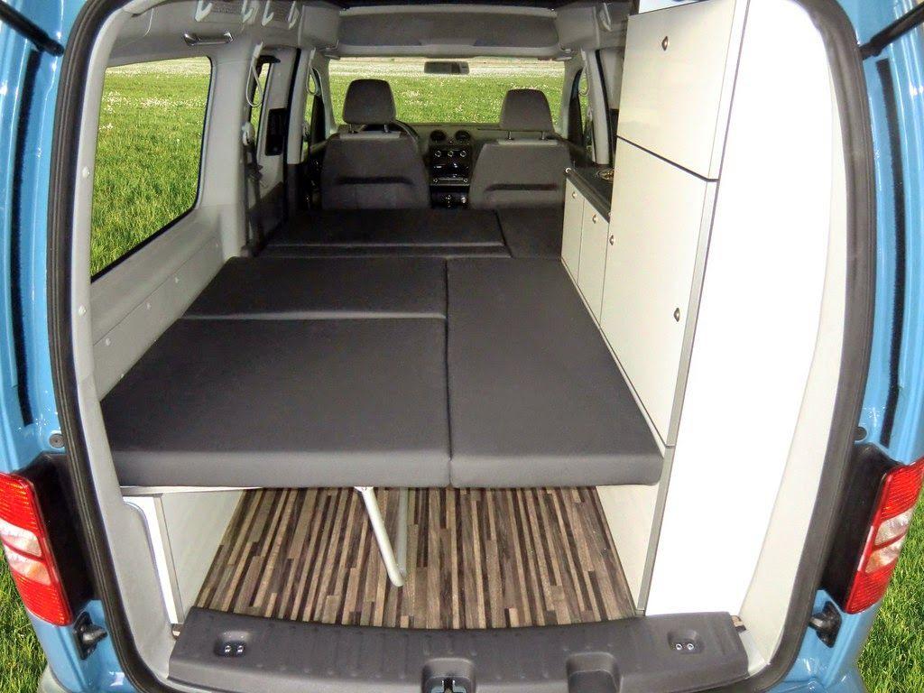 mini camper vw caddy maxi de reimo viaja en furgo. Black Bedroom Furniture Sets. Home Design Ideas