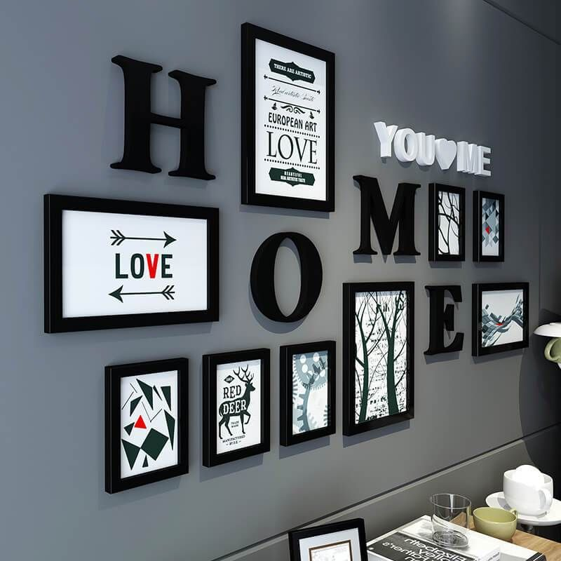 black white modern design wall photo frame en 2020 on wall frames id=25822