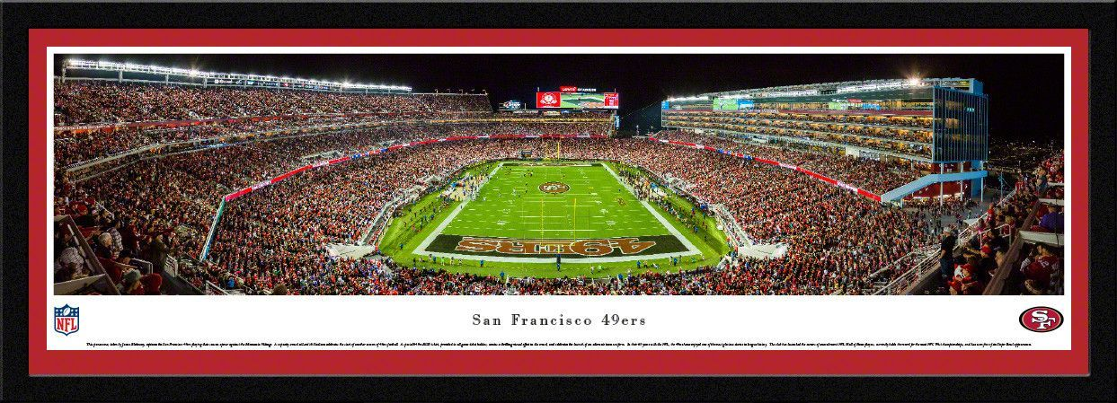 San Francisco 49ers Panoramic Picture Framed- Levi's Stadium