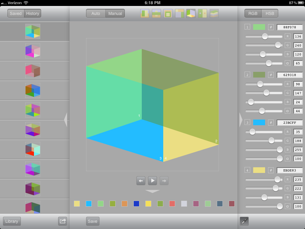 One more peek at the latest Colors by Number for iPad update coming soon