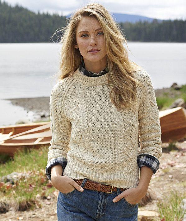 Signature Cotton Fisherman Sweater | Style | Pinterest | Cotton ...
