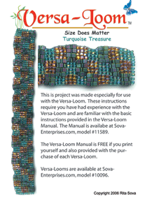 Turquoise Treasure (Versa-Loom) Pattern at Sova-Enterprises.com