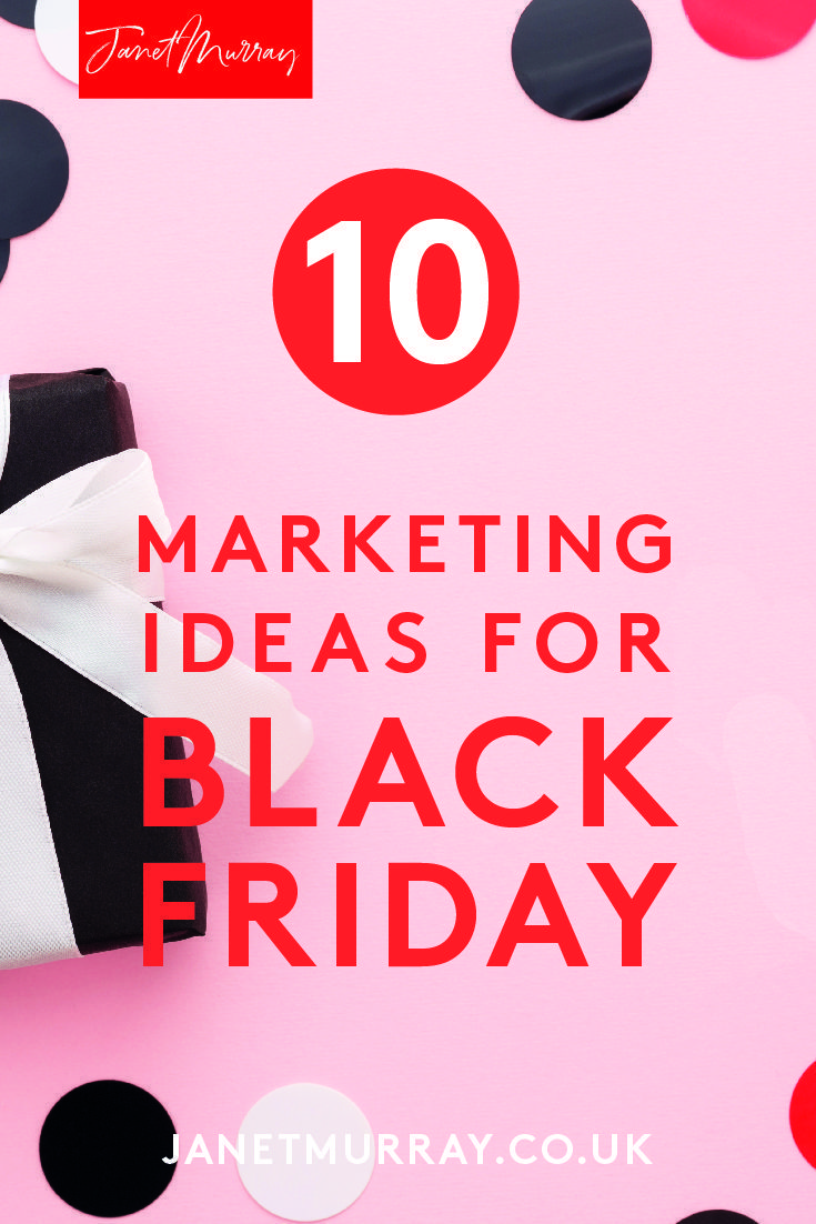 Thinking of running a Black Friday promotion? Click to listen to this podcast covering 10 marketing ideas for Black Friday! Essential listening for small businesses considering a Black Friday marketing plan! #blackfriday #marketingstrategy #contentmarketing #smallbusinesses