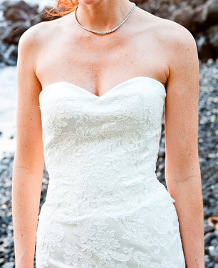 Modern Trousseau (autumn) Wedding Dress w/ sweatheart neckline