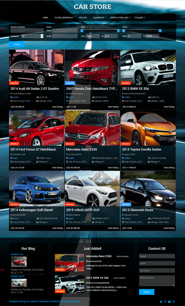 Buy car dealer website templates from $3. Are You Looking For Something Unique And Awesome For You Car Dealership Website Template Or In Need Of Car Sales Port Car Websites Cars For Sale Car Dealership