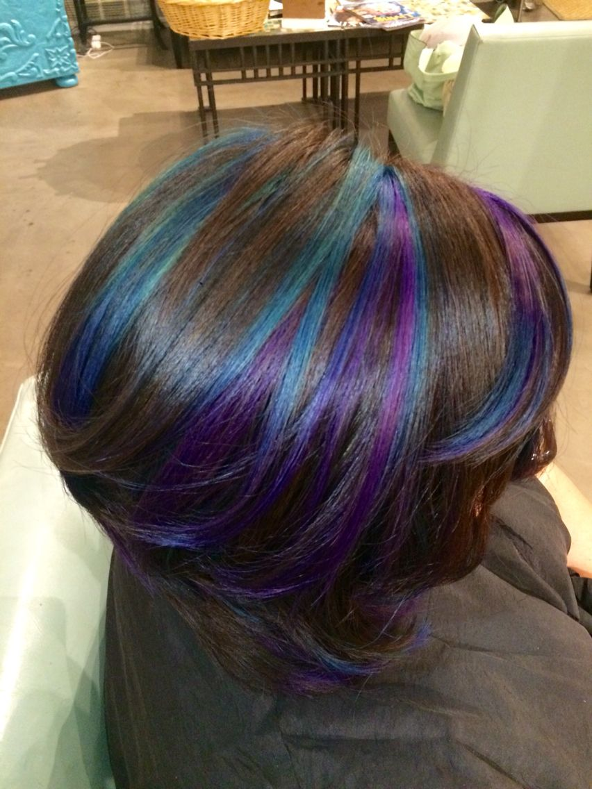 galaxy hair- i'm pretty sure tj (and my boss) would have a stroke