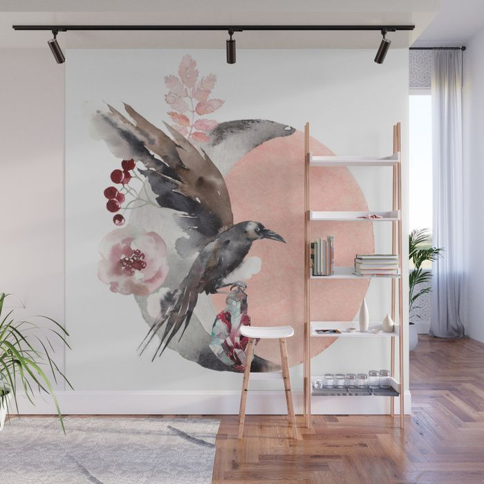 Visions Of Crystal Eyed Ravens Wall Mural by sunnybunny