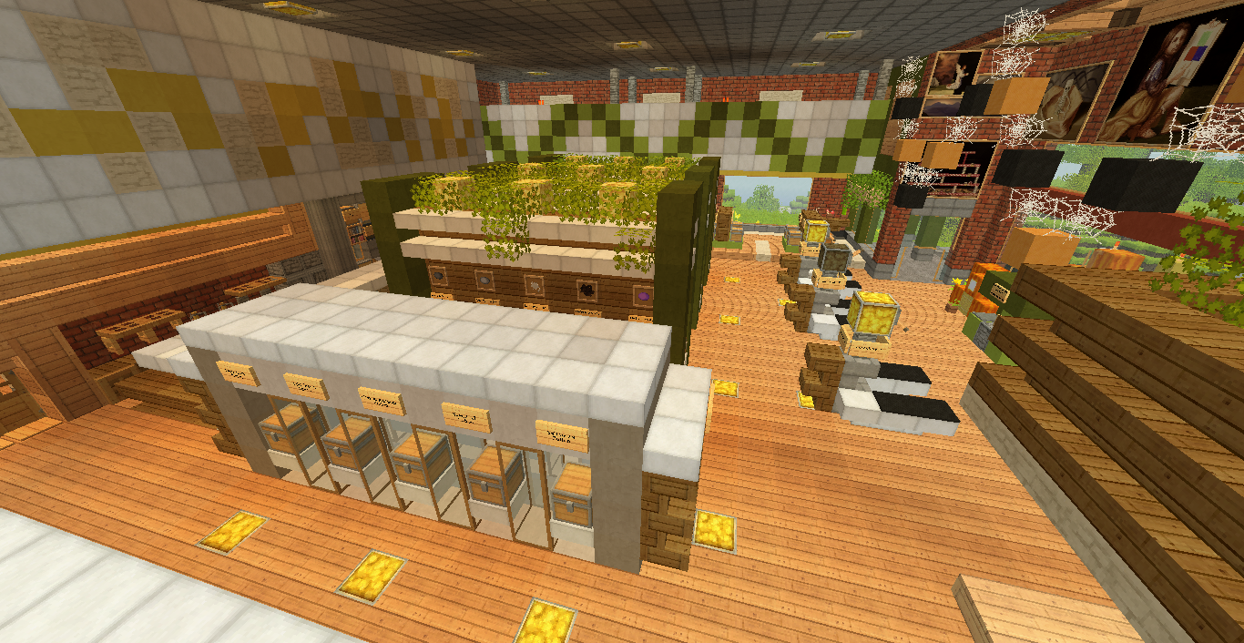 Interior Design For A Grocery Store Minecraft Shops Minecraft Modern Minecraft Designs