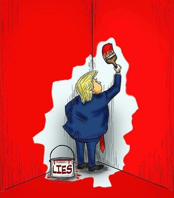 Image result for political cartoon trump liar liar