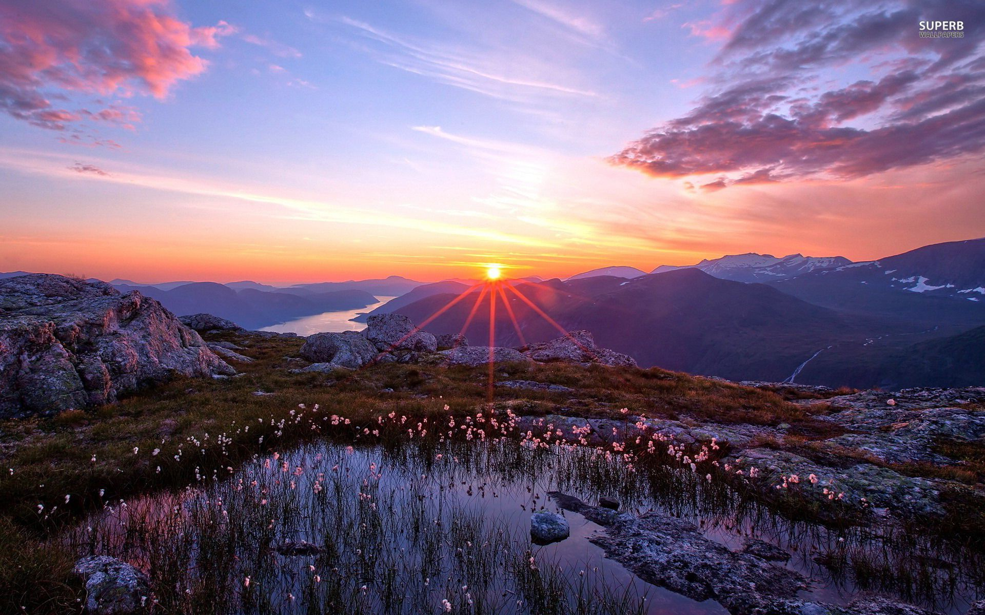 beautiful mountains sunrise wallpaper - photo #13