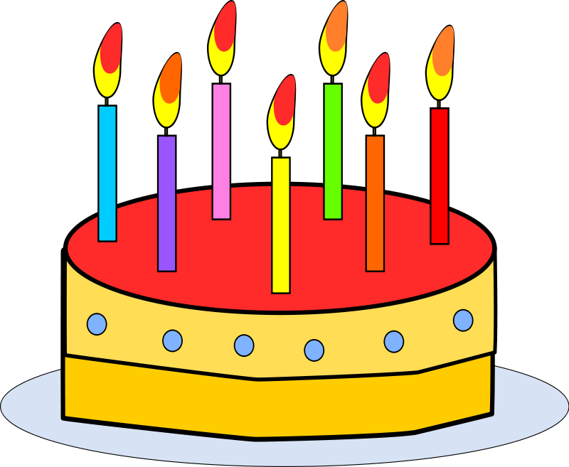free clipart birthday cake with candles birthday cakes rh pinterest com birthday candles clipart free birthday candle clip art images
