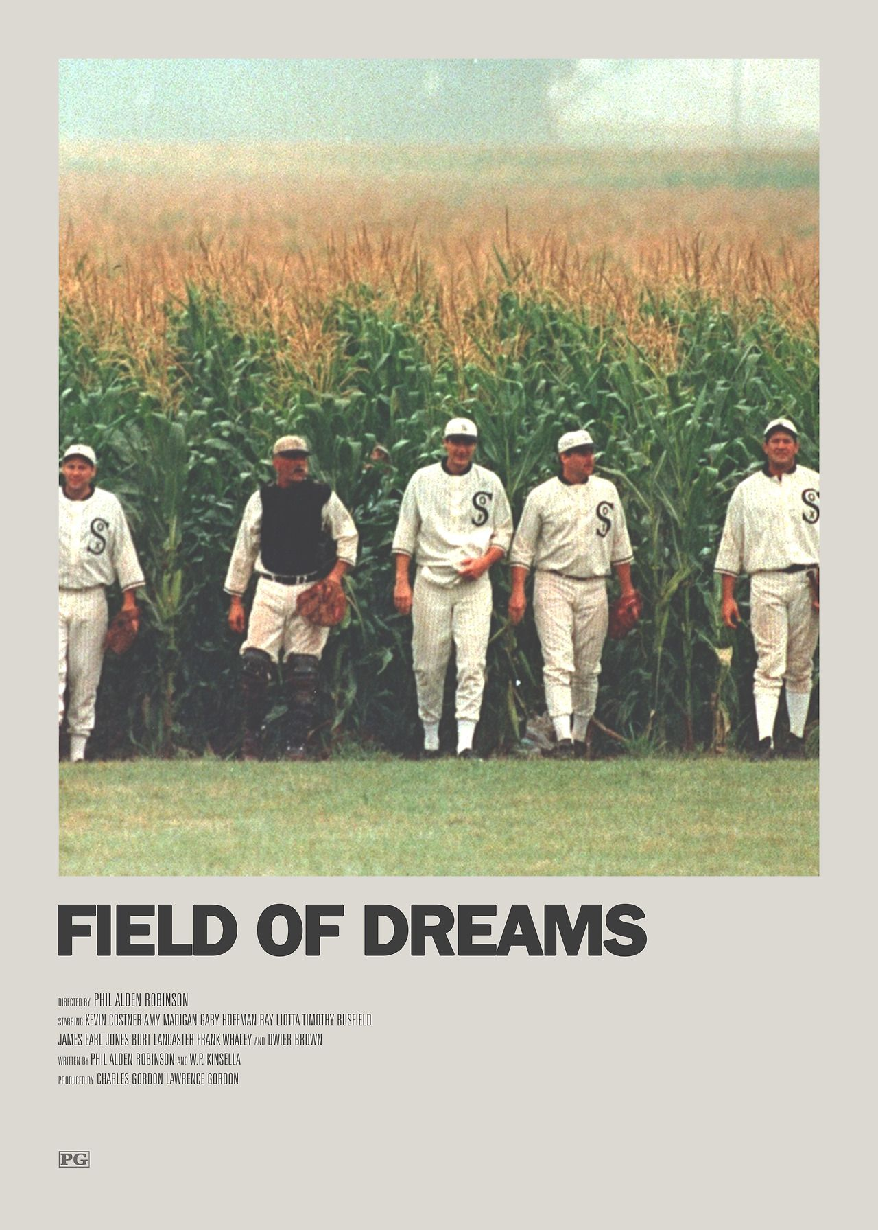 Field of Dreams Minimal Movie Poster | Minimal movie posters, Movie poster  wall, Film poster design