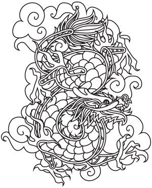 "Chinese Dragon design (UTH5580) from UrbanThreads.com 5.83""w x 7.24""h"