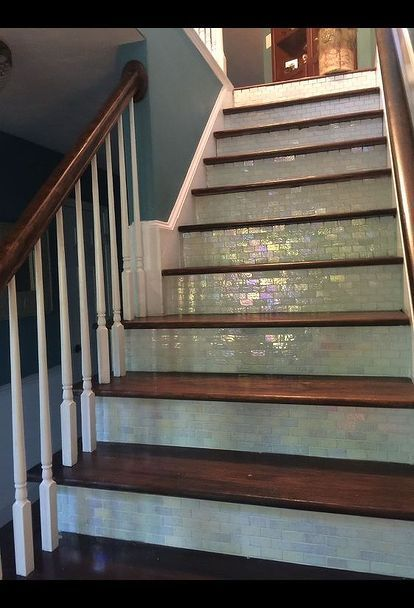 Steps Of Glamour Entryway Stairs Stair Remodel Tile Stairs