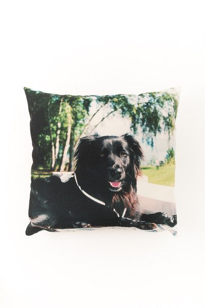 For the fur Dad in your life! Celebrate man's best friend with a custom throw pillow printed with your favorite pet phot.