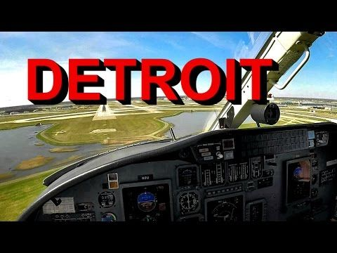Flying a Cessna Citation and Landing at the Detroit Metro