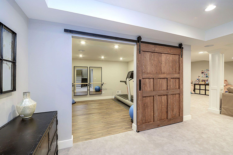 Workout exercise room basement remodeling ideas glen ellyn for Basement workout room