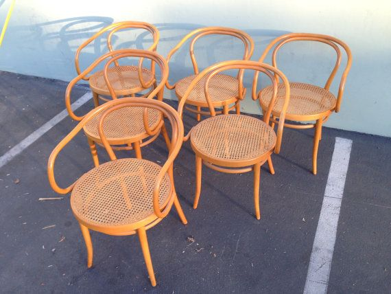 6 Stendig Thonet Bentwood Chairs No. B9 Dining By DejaVuDecors