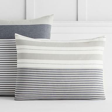 Harbor Stripe Sham Standard Gray Duvet Covers Striped